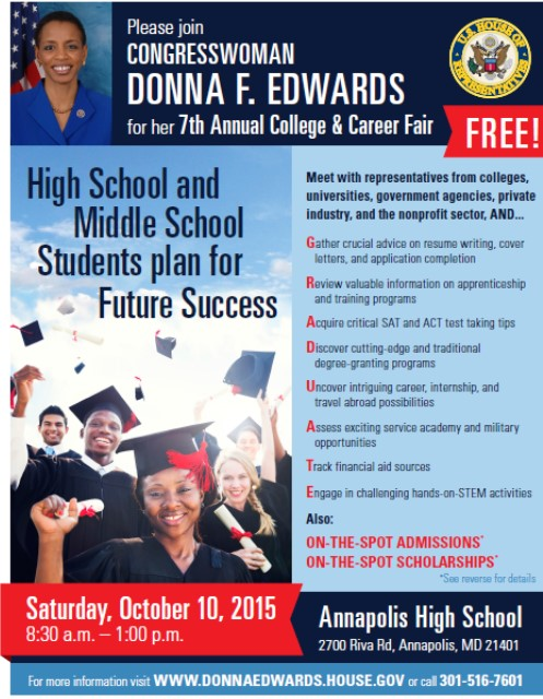 Congresswoman Edwards' 7th Annual College & Career Fair Provides Insight, Youth Resources